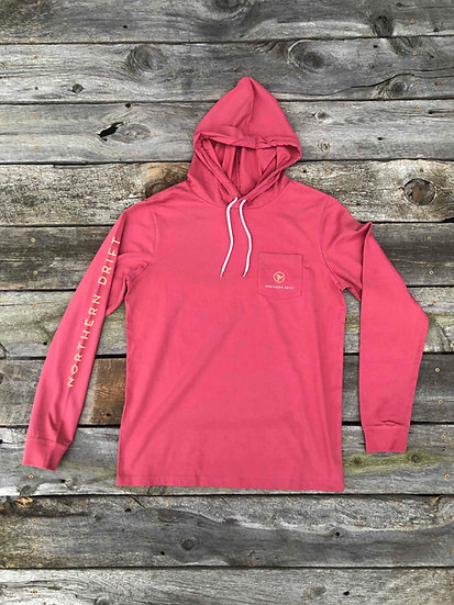 Long Sleeve Hooded Tee - Nantucket Red