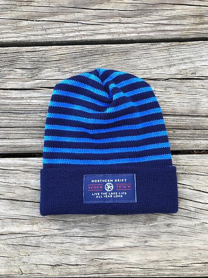 Navy & Blue Lake Life Knit Beanie
