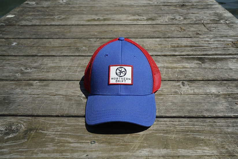 Royal/Red Classic Trucker Hat