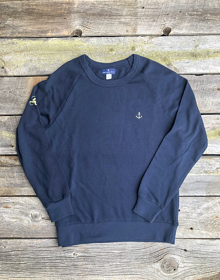 Navy Signature Anchor Pullover