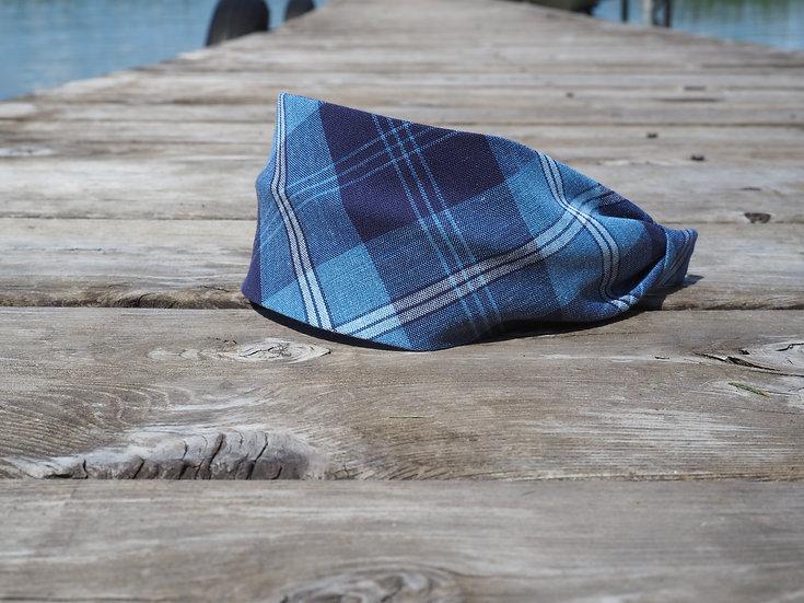 Blue Plaid Headband