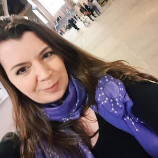 Prof Amy Brown's very clever human milk oligosaccharides scarf