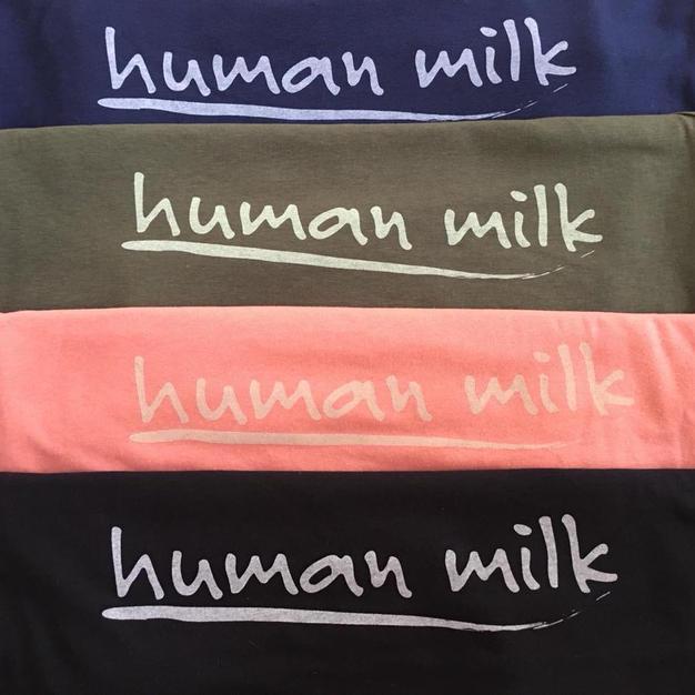 Human Milk logo vests
