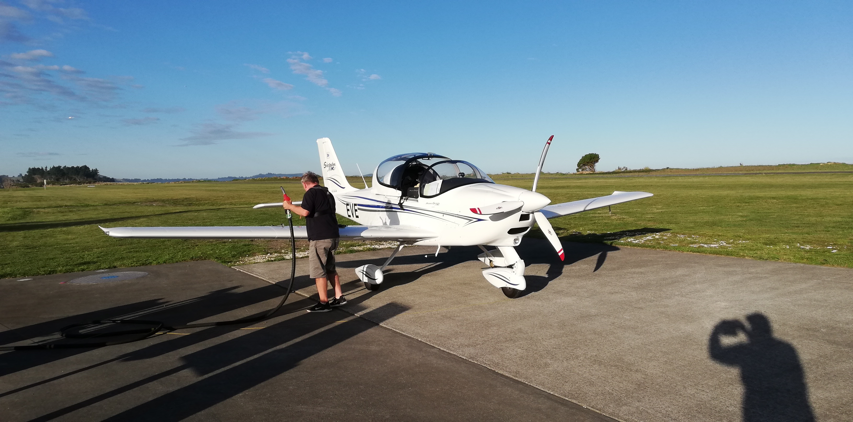 Refuelling at Kaikoura.