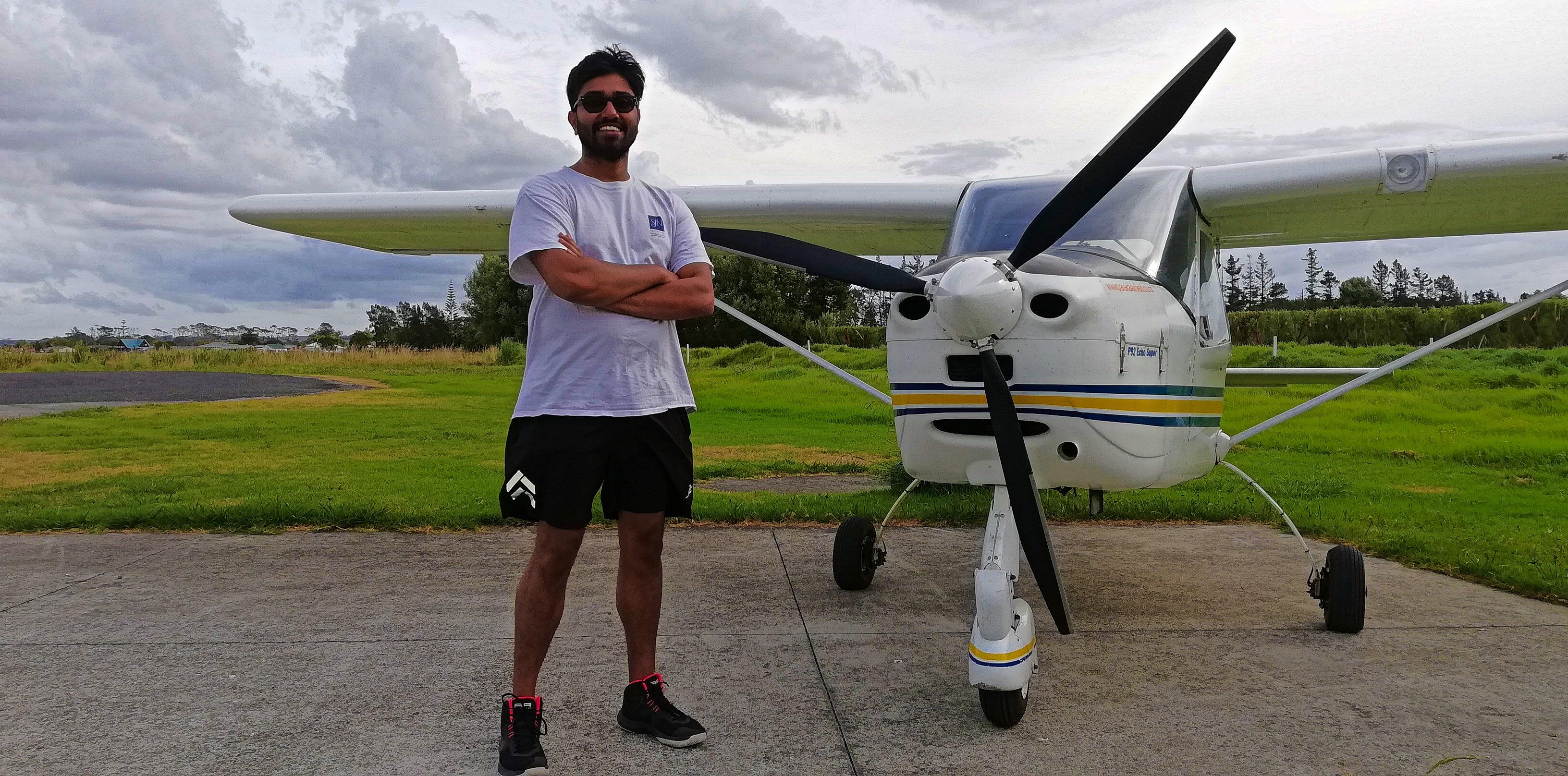 Rishi, after his trial flight
