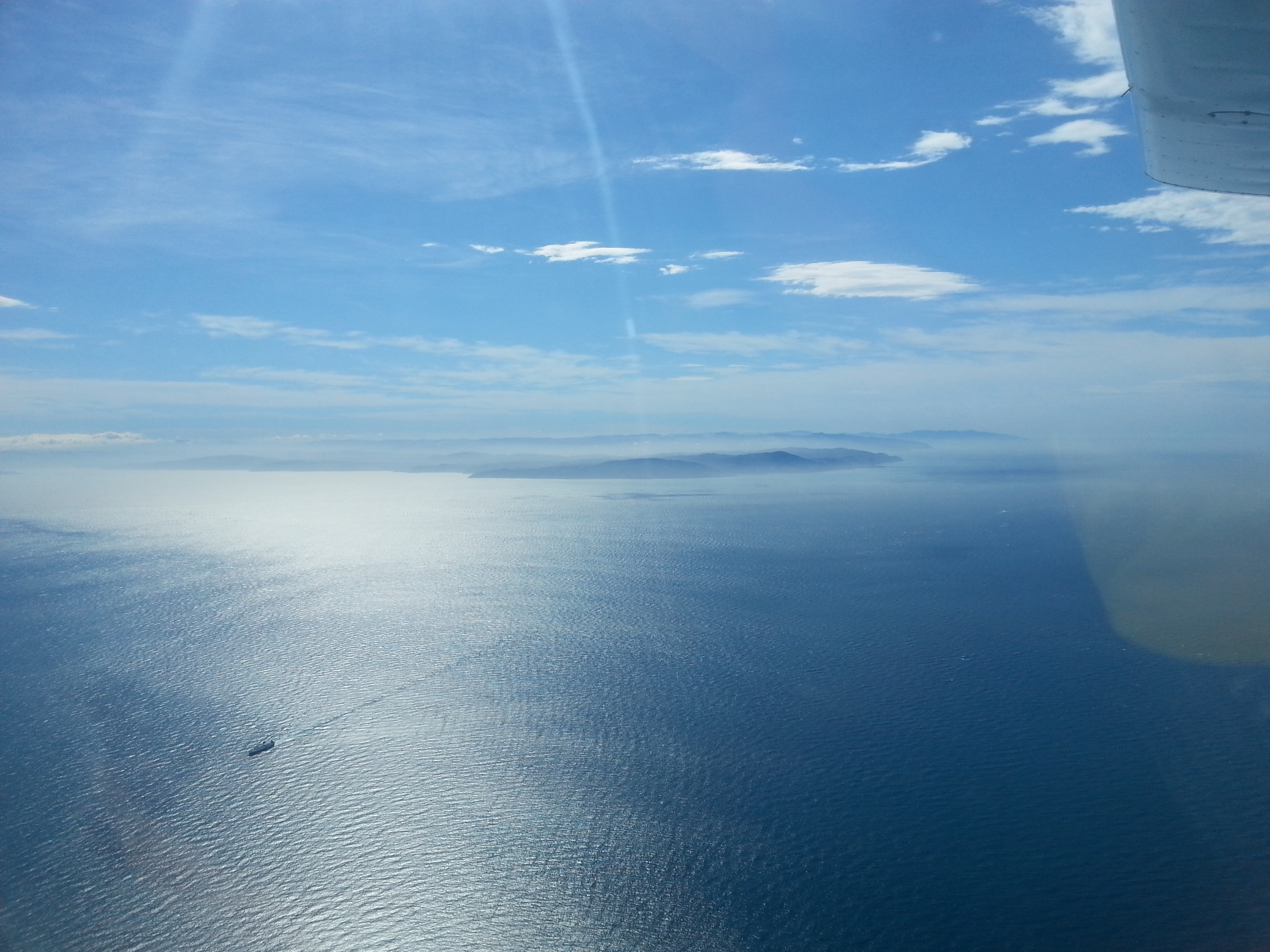 Cook Strait from 5000ft