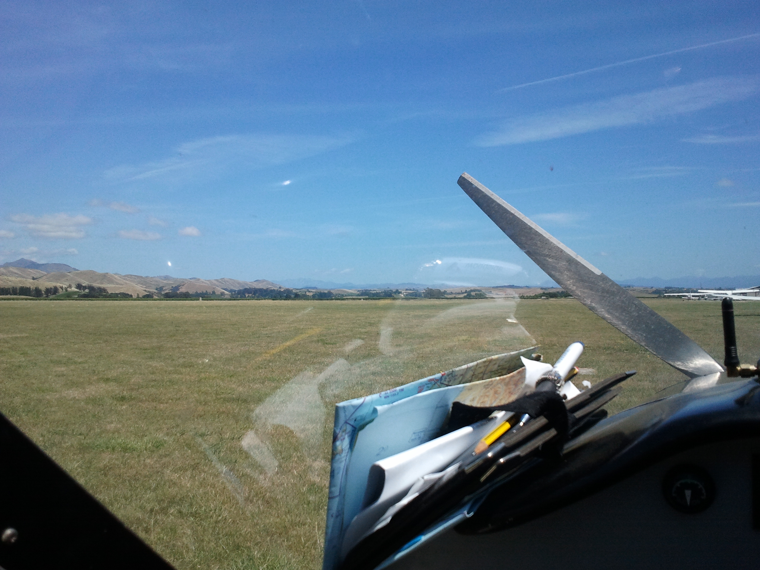 On the ground at Omaka airfield