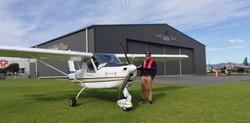 Greg, landed at Tauranga Airport