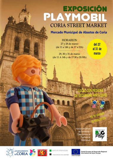 Exposición Playmobil Coria Street Market 2021