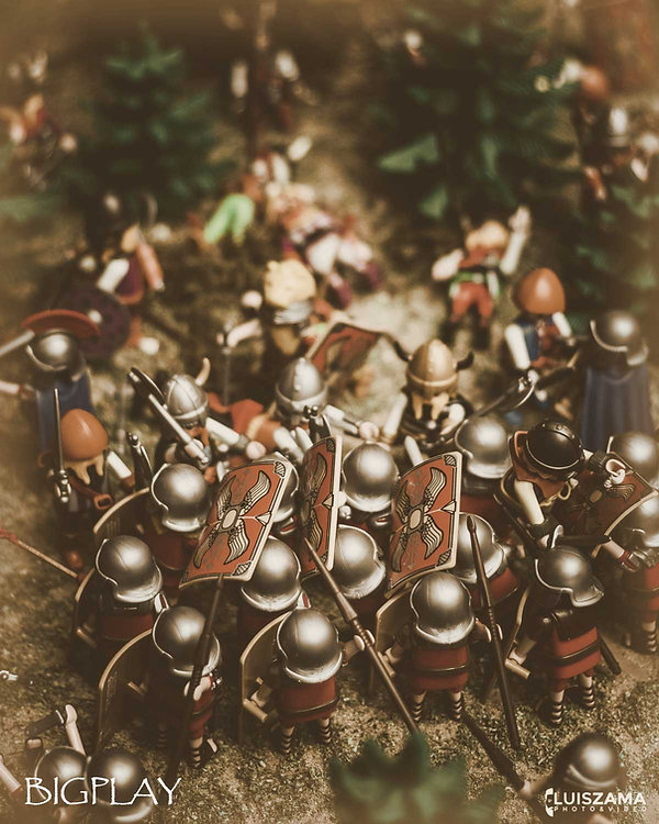 Battalla entre tropas del ejército romano de Agripa contra los Cántabros durante las Guerras Cántabras en Hispania