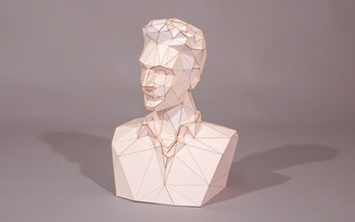 low poly bust