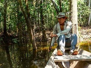 Jaguar Amazon Tours Josuel Crosa Paddling through the Amazon Lak