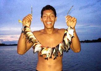 Jaguar Amazon Tours Manaus Brazil Piranha-fish with Josuel Crosa Adventure Tour