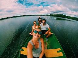 Jaguar Amazon Tours Manaus Brazil Adventure Tour Tourists at Juma Lake