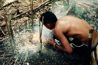 Jaguar Amazon Tours Manaus Brazil Jungle Survival Tour Josuel Crosa Making a Fire