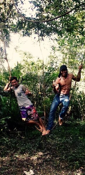 Jaguar Amazon Tours Manaus Brazil Jungle Survival Tour Josuel Crosa with Friend