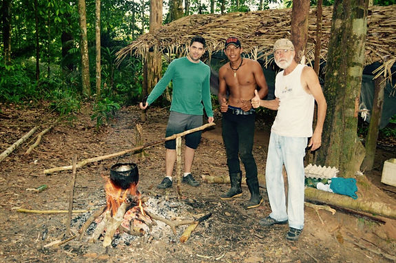 Preparing dinner Manaus Brazil Jungle Survival Tour @ Jaguar Amazon Tours
