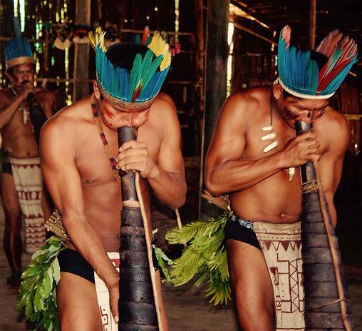 Jaguar Amazon Tours Manaus Brazil Day Trip Native Indian Tribe Playing Music