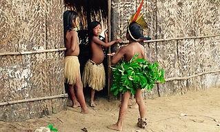 Jaguar Amazon Tours Manaus Brazil Adventure Tour Native Indian Tribe Children