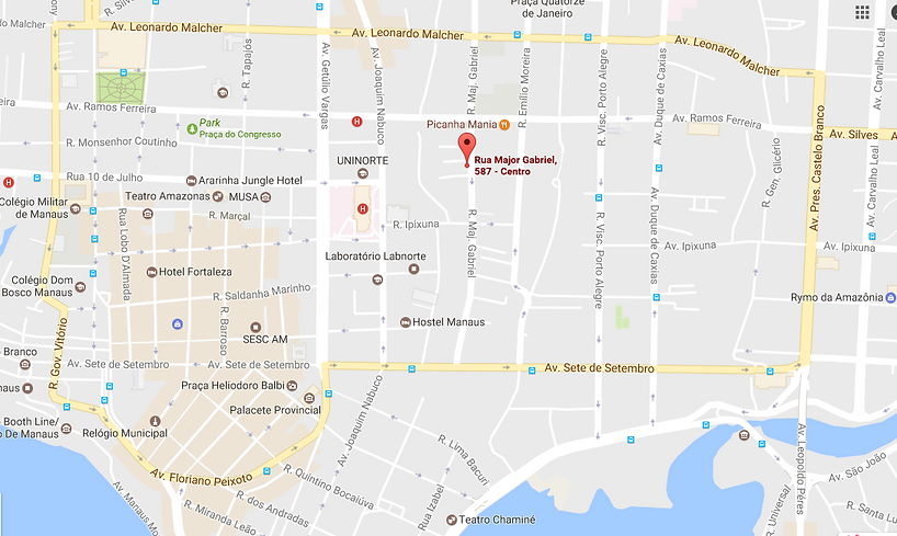 Map of Familia Crosa, Homestay in Manaus Brazil