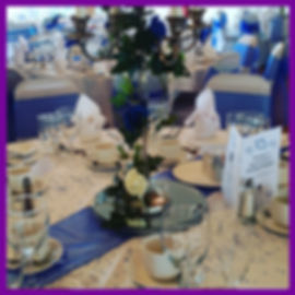 LOWESTOFT WEDDING HIRE FRESH FLOWERS ARTIFICIAL FLOWERS WEDDING DAY NORFOLK SUFFOLK ROOKERY PARK GOLF CLUB IVY HOUSE COUNTRY HOTEL VICTORIA HOTEL WEDDING DAY DREAMS CHAIR COVERS TABLE RUNNERS SCATTER GEMS TOP TABLE FLOWERS LOG SLICES MIRROR PLATES ROYAL BLUE WEDDING NAVY WEDDING IVORY ROSES BLUE ROSES  NAPKINS FAIRY LIGHTS WEDDING GOALS