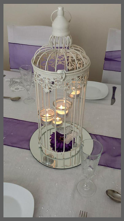 lowestoft wedding hire, bird cages, pink flowers, peach flowers, rookery park weddings