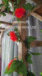 lowestoft wedding hire suffolk wedding norfolk wedding rustic wedding rose arch rustic arch red rose wedding
