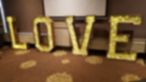 love letters giant light up love letters rustic wedding carlton manor hotel