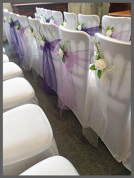 lowestoft wedding hire, great yarmouth council, great yarmouth town hall, purple wedding, chair detailing, wedding day styling, norfolk venue, norfolk bride, suffolk bride, norfolk wedding, chair covers sashes cadburys purple, voilet purple, lilac purple, lavender purple,