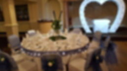 lowestoft wedding hire victoria hotel chair hoods chair covers chair sashes golf club centre pieces navy wedding white wedding table runners table lights flower details pew ends norfolk suffolk