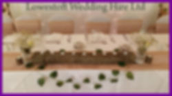 lowestoft wedding hire top table log slice rustic jars wedding day goals chair covers tealights fresh flowers ivy houre country hotel suffolk norfolk backdrop fairy lights