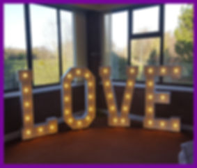 LOVE LETTERS LIGHT UP LOVE GIANT LOVE LETTERS WEDDING GOALS SUFFOLK NORFOLK RUSTIC LOVE LETTERS