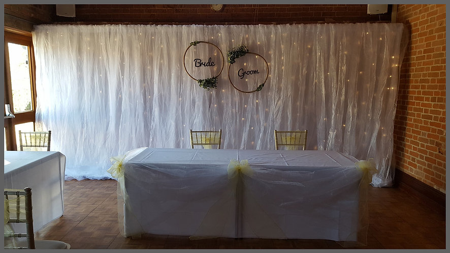lowestoft wedding hire, park hill hotel oulton broad, starlight back drop, back drop, flower wall, mr and mrs, bride and groom, lemon wedding, yellow wedding, perfect day, idosuffolk, idonorfolk, eucylptus, beccles, great yarmouth