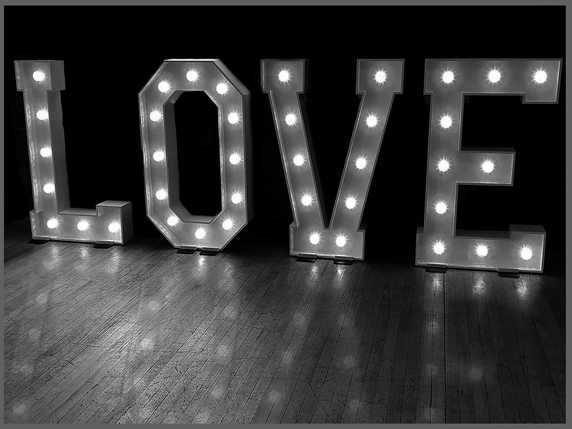 love letters, lowestoft wedding hire, 4ft love letters, light up love, norfolk bride, suffolk bride, wedding day east anglia