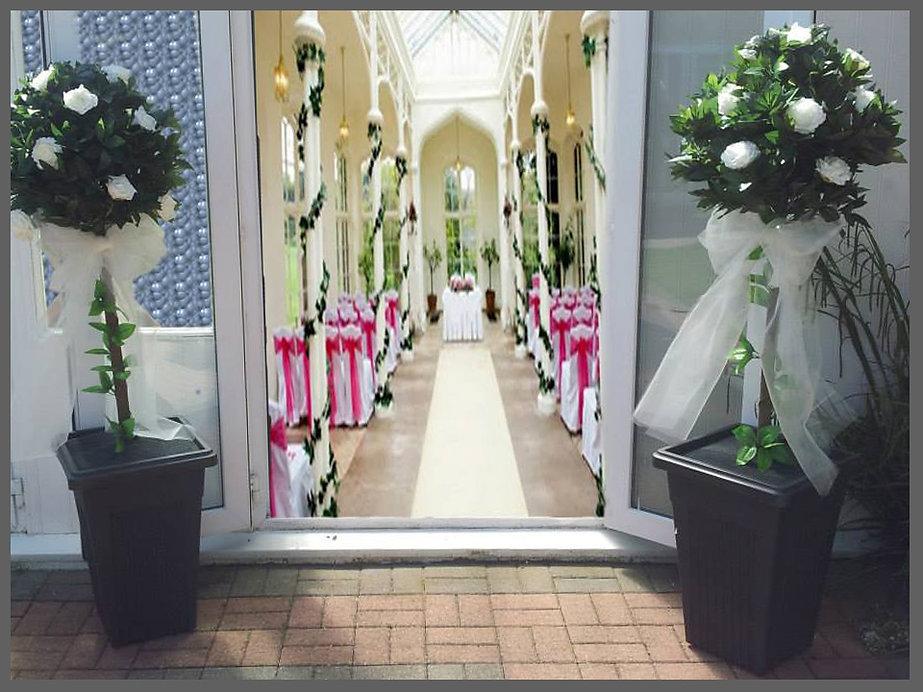 LOWESTOFT WEDDING HIRE, BAY TREES, WEDDING ENTRANCE ITEMS, PERFECT WEDDING DAY, WEDDINGS IN NORFOLK AND SUFFOLK, WOW WEDDING ITEMS, BIG DAY DREAMS, ROSE BAY TREES, NORFOLK BRIDE SUFFOLK BRIDE NORWICH WEDDING HIRE, WAVENEY WEDDING HIRE