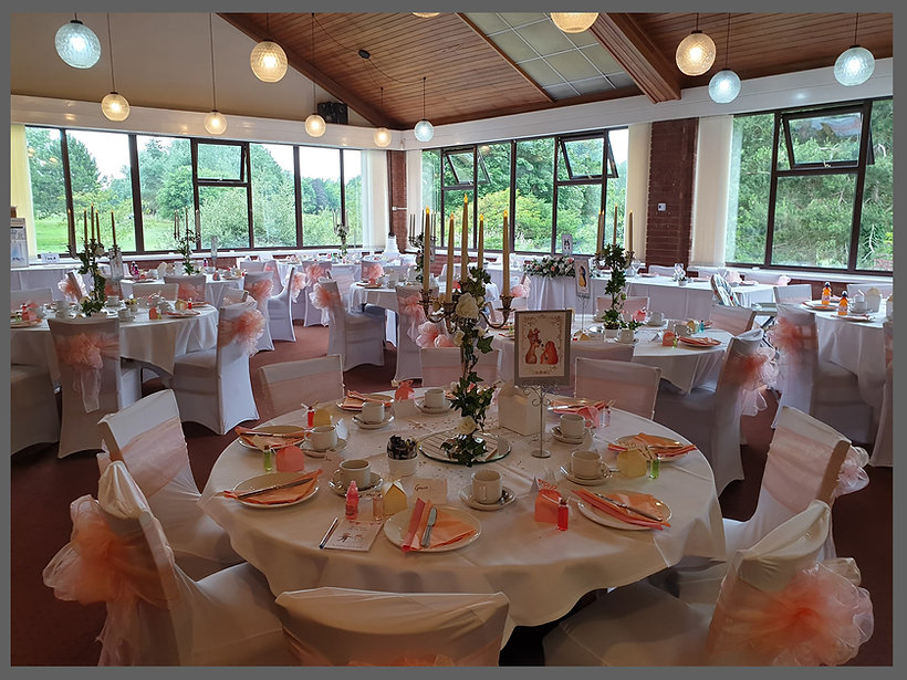lowestoft wedding hire, rookery park golf club, disney wedding, candelabras, norfolk wedding hire, suffolk wedding hire, brides east anglia, peach and pink wedding