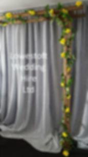lowestoft wedding hire rose arch wedding arch rustic arch silversequin backdrop suffolk weddings