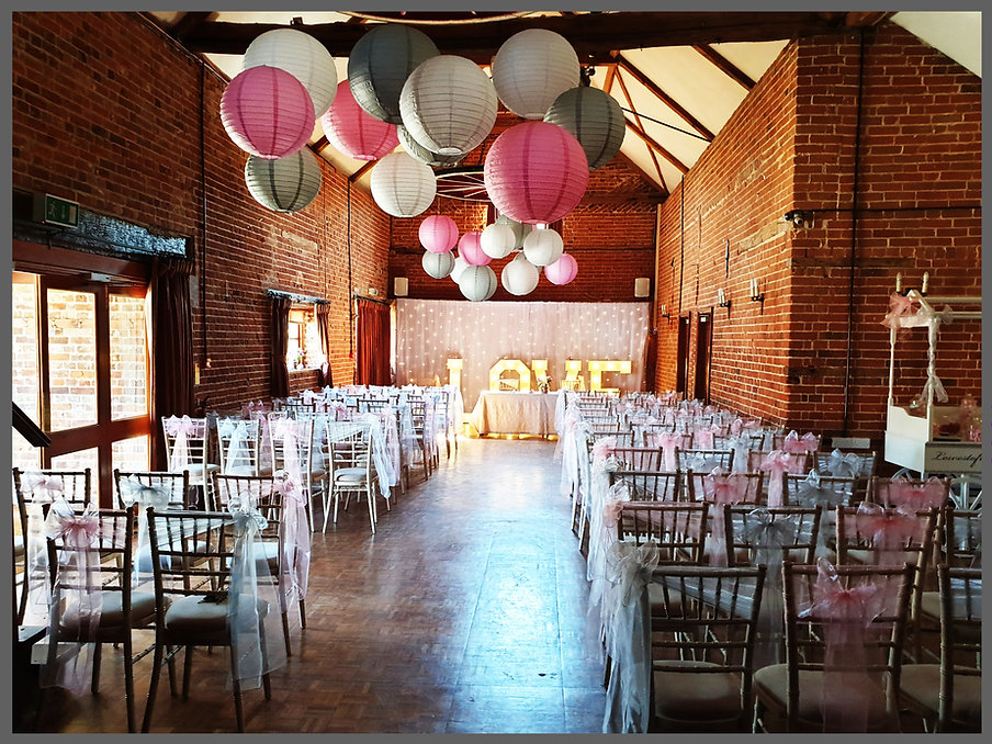 lowestoft wedding hire, ivy house country hotel, paper lanterns, lantern love, park hill hotel, norfolk wedding venue, suffolk wedding venue, areial decorations, wedding decorations, wedding stylist, perfect wedding day, candy cart, love letters, back drop, parn wedding