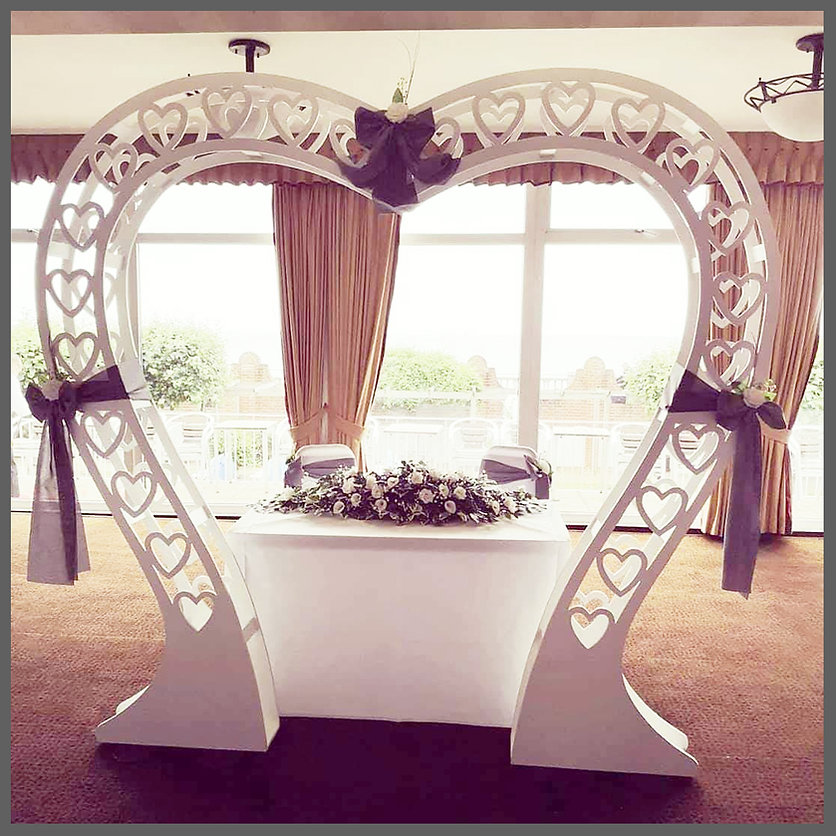 LOWESTOFT WEDDING HIRE, HEART ARCH, LOVE HEART, ARCHWAY ARCH WAY, THE HOTEL VICTORIA LOWESTOFT, NORFOLK WEDDINGS, SUFFOLK WEDDINGS, WEDDING WITH A VEAW, BEACH WEDDINGS, CLASSIC WEDDING, LOVE IS LOVE, WOW WEDDING ITEMS, BESPOKE WEDDING ITEMS LOWESTOFT, WHITE ROSES, SIGNING TABLE ITEMS, I DO, BECCLES, NORWICH WEDDINGS#