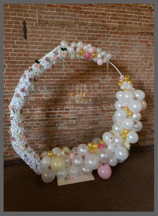 lowestoft wedding hire, harrods heliums, wood farm barns, make a statement with this stilish backdrop with added personalisation on clear acrylic to make the perfect feature, custom colour and designs available, norfolk balloons, suffolk balloons, birthday balloons, norfolk weddings and brides, suffolk weddings and brides