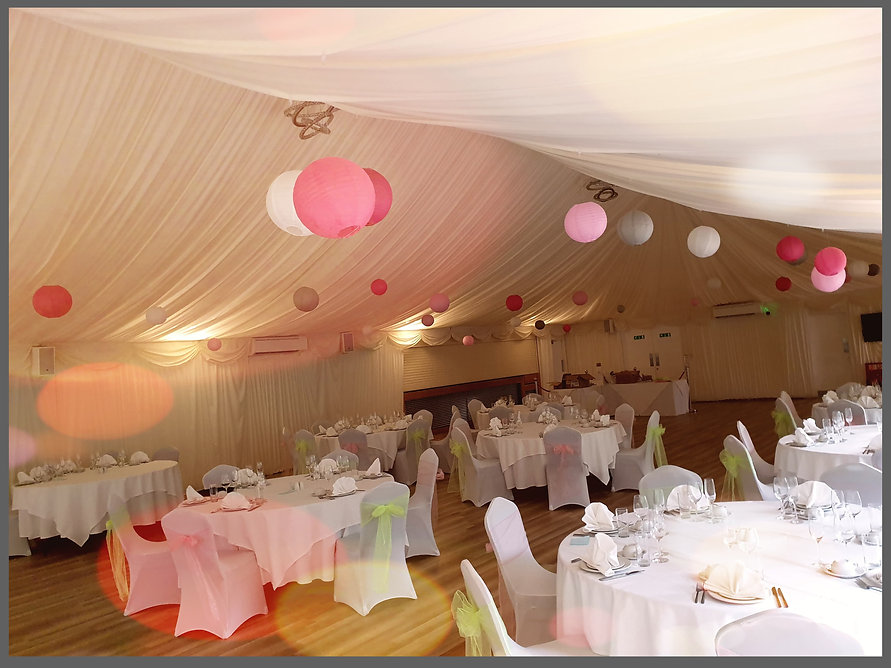 lowestoft wedding hire, ivy house country hotel, paper lanterns, lantern love, park hill hotel, norfolk wedding venue, suffolk wedding venue, areial decorations, wedding decorations, wedding stylist, perfect wedding day, pink wedding, lime green wedding, neon wedding theme