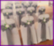 CHAIR COVERS LOWESTOFT WEDDING HIRE ORGANZA CHAIR COVERS RUSTIC HESSIAN SASHES LACE  SUFFOLK NORFOLK CHAIR SASHES WEDDING GOALS GREY SILVER HOTEL VICTORIA