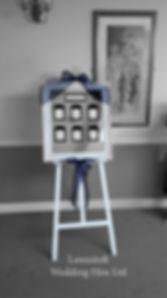 lowestoft wedding hire, venue dressing, party decorations, wedding hire, suffolk weddings, norfolk weddings, browston hall, browston golf club, blue wedding, navy wedding, wedding easel, whit easel, wedding day,