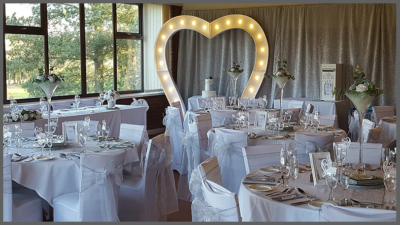 lowestoft wedding hire, light up arch way, wedding arch, trees, martini vases, white wedding, table numbers, silver backdrop, wedding backdrop, wedding post, post box, rookery park golf club, golf club wedding, country club wedding, wedding in norfolk, wedding in suffolk, norfolk bride, suffolk bride, beccles,