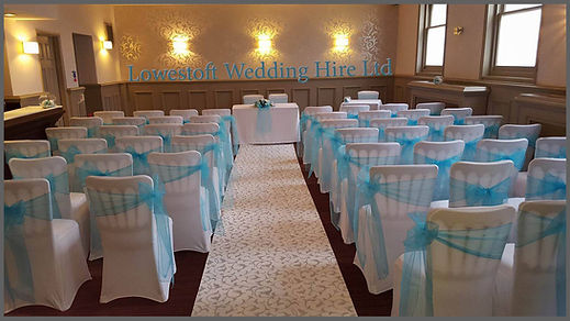 lowestoft wedding hire, chair covers, blue wedding, baby blue, the hotel hatfield, aislle runner, norfolk weddings, suffolk weddings, wedding goals, happy bride, love is love, lgbtq