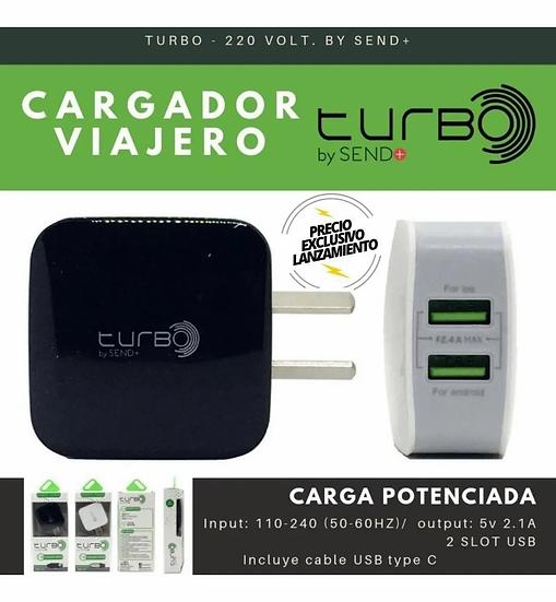 CARGADOR RÁPIDO USB TIPO C - SEND+   2.4 A