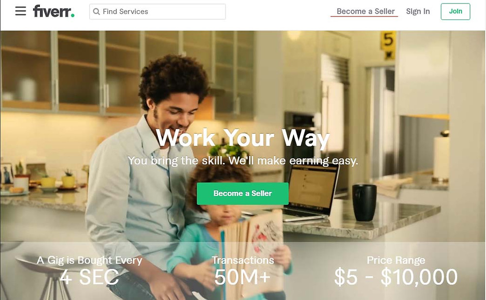 Fiverr become a seller