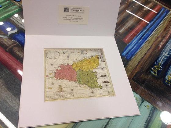 Gerard van Keulen - 1718  Map of Sicily, large