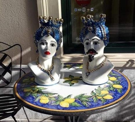 Moorish heads - blue