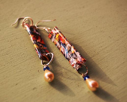 Earrings, Carretto Siciliano (CSO5)
